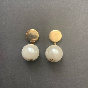 Jewelry - Large Faux Pearl Drop Earrings